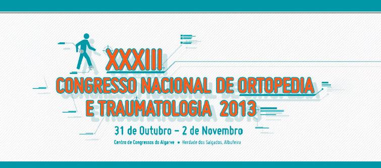 XXXIII Congresso Nacional de Ortopedia e Traumatologia 2013
